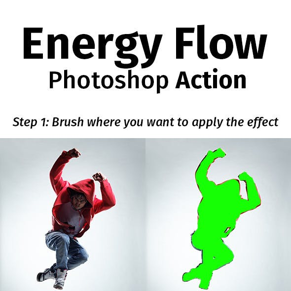 Energy Flow Photoshop Action