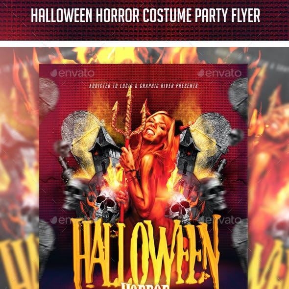 Halloween Horror Costume Party Flyer