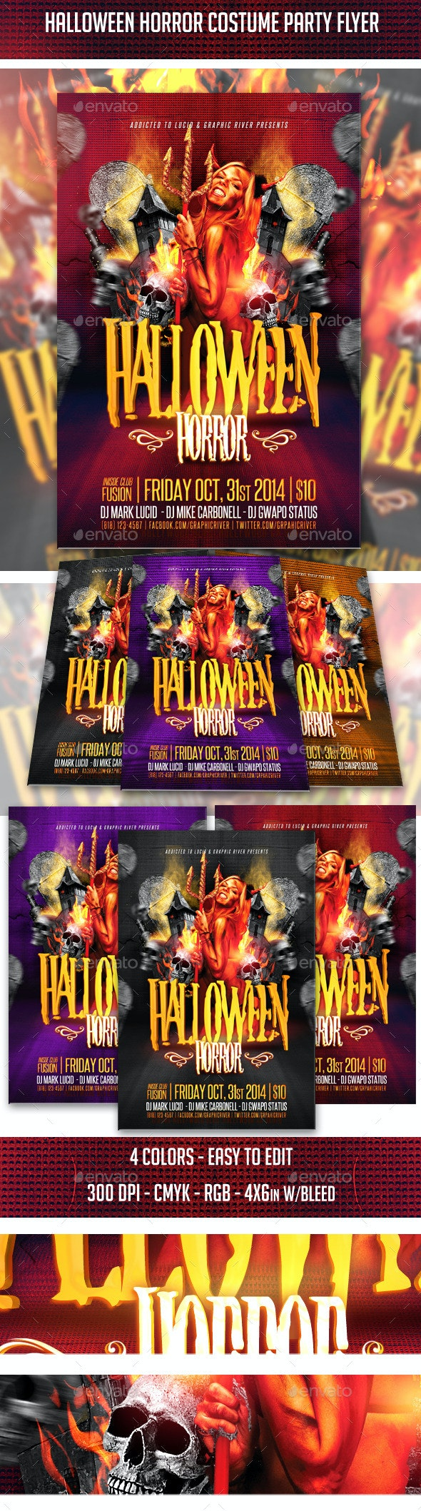 Halloween Horror Costume Party Flyer - Clubs & Parties Events