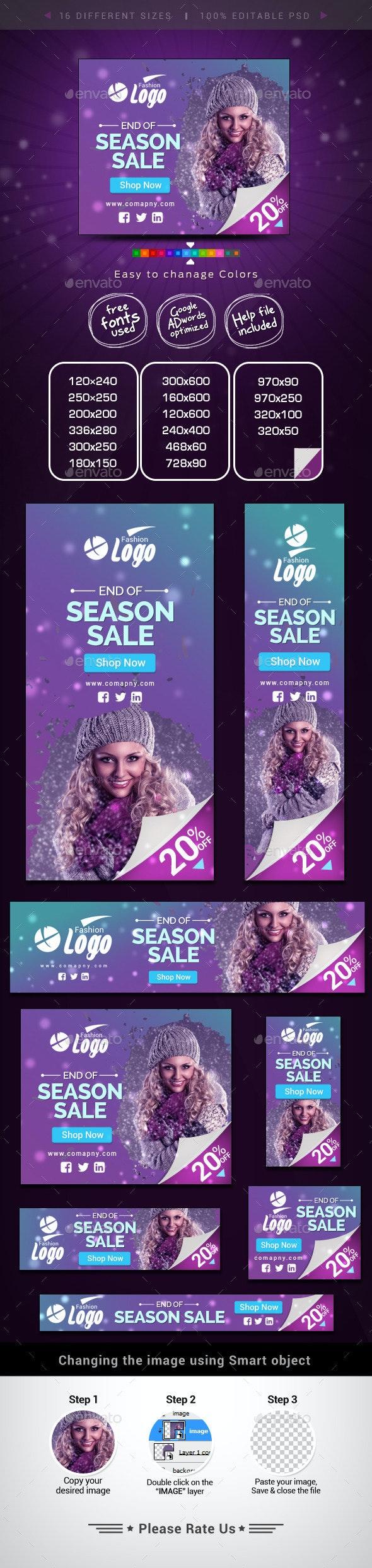 Seasonal Sale Banners - Banners & Ads Web Elements