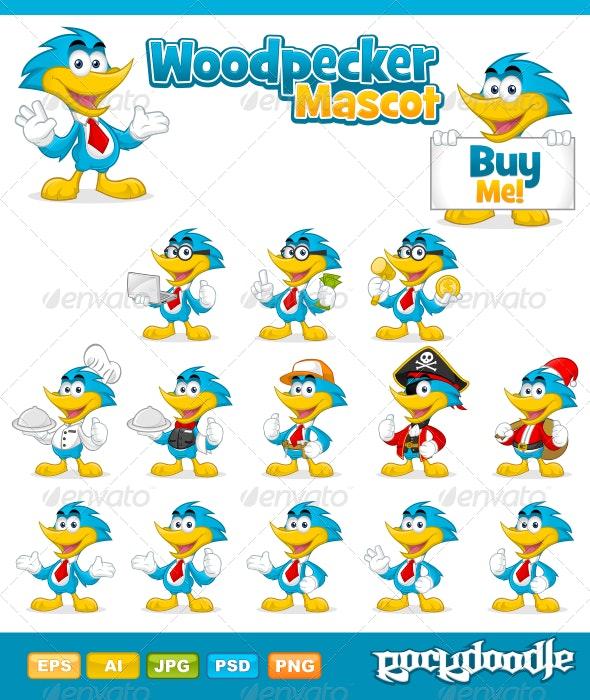 Woodpecker Mascot - Characters Vectors