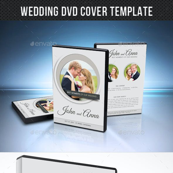 Wedding DVD Cover Template 11