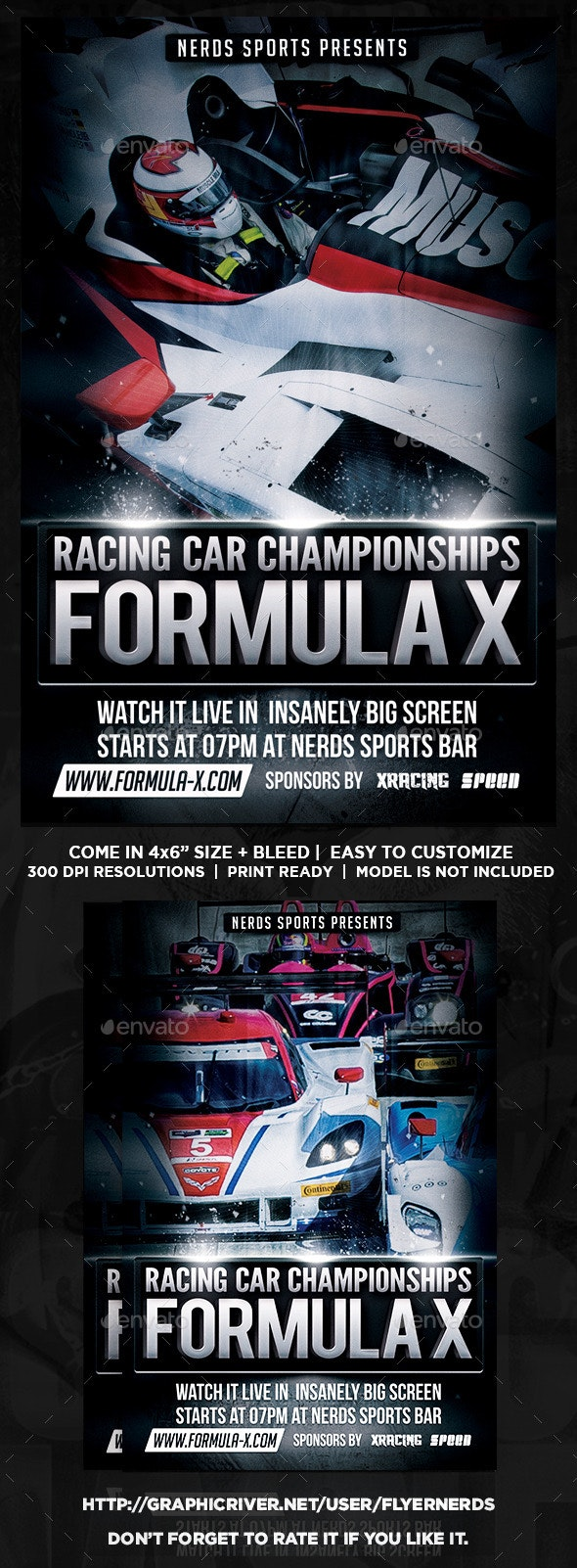 Formula X Championships Flyer - Sports Events