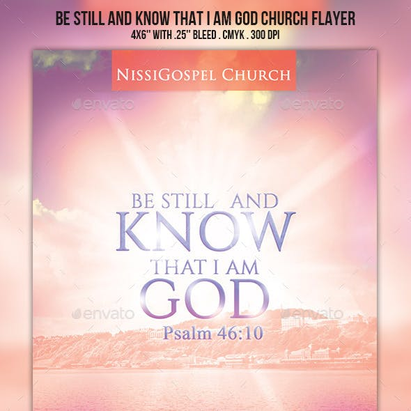 Be still and know that I am God Church Flyer