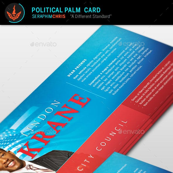 Political Palm Card Template 4