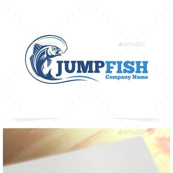 Jump Fish Logo Template