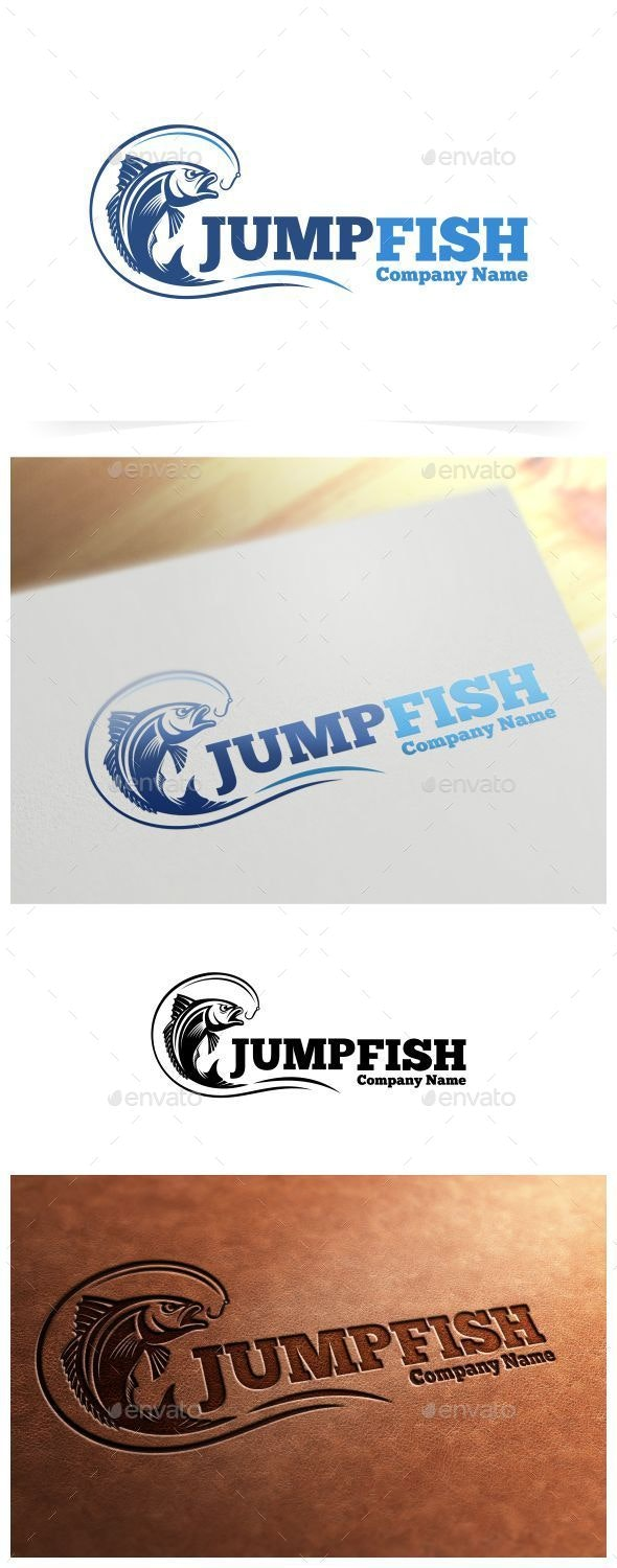 Jump Fish Logo Template - Animals Logo Templates