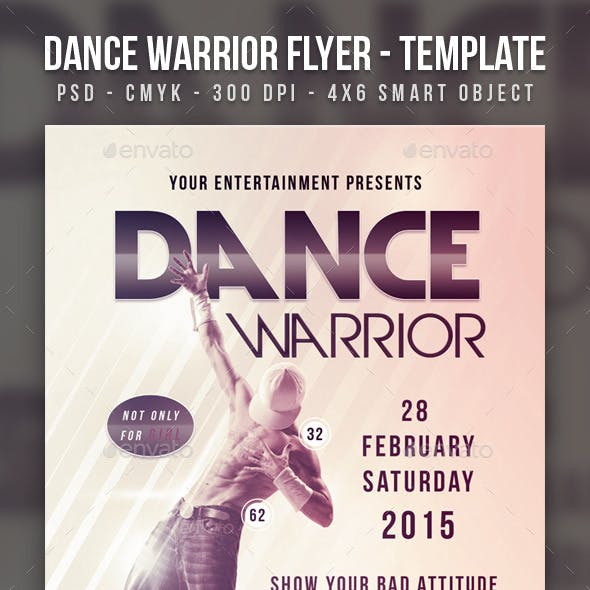 Dance Warrior Flyer Template