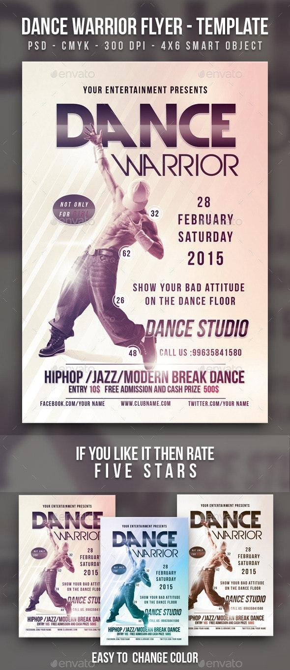 Dance Warrior Flyer Template  - Clubs & Parties Events