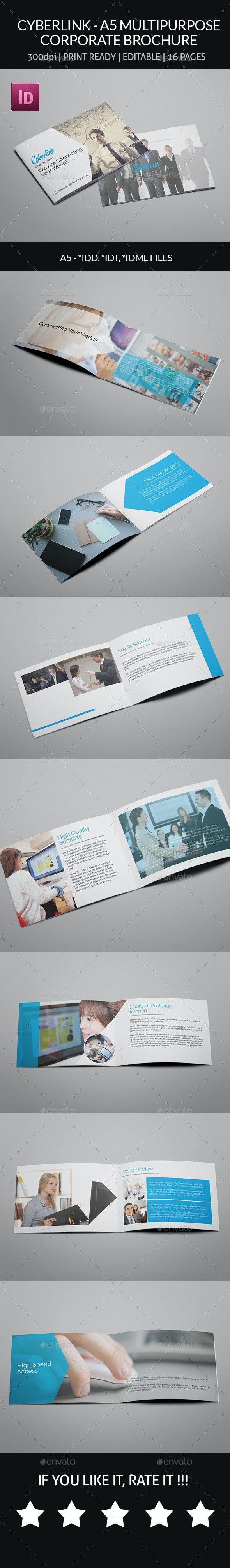 Cyberlink - A5 Multipurpose Corporate Brochure - Corporate Brochures