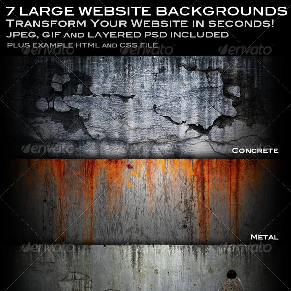7 Realistic Web Backgrounds