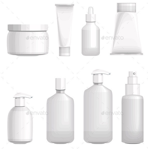 Set with Different Cosmetic Bottles - Man-made Objects Objects