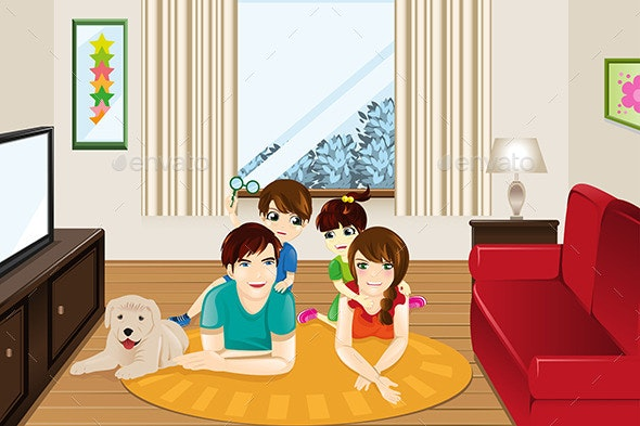 Family at Home - People Characters