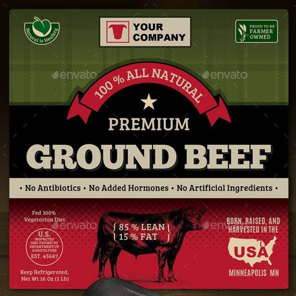 Ground Beef Label