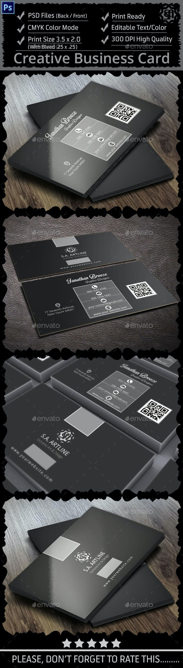 Black & White Creative Business Card - Creative Business Cards