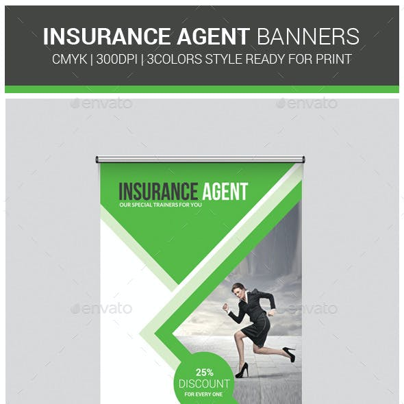 Insurance Business Banners Template