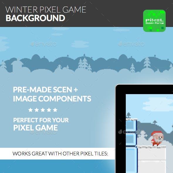 Winter Pixel Game Background