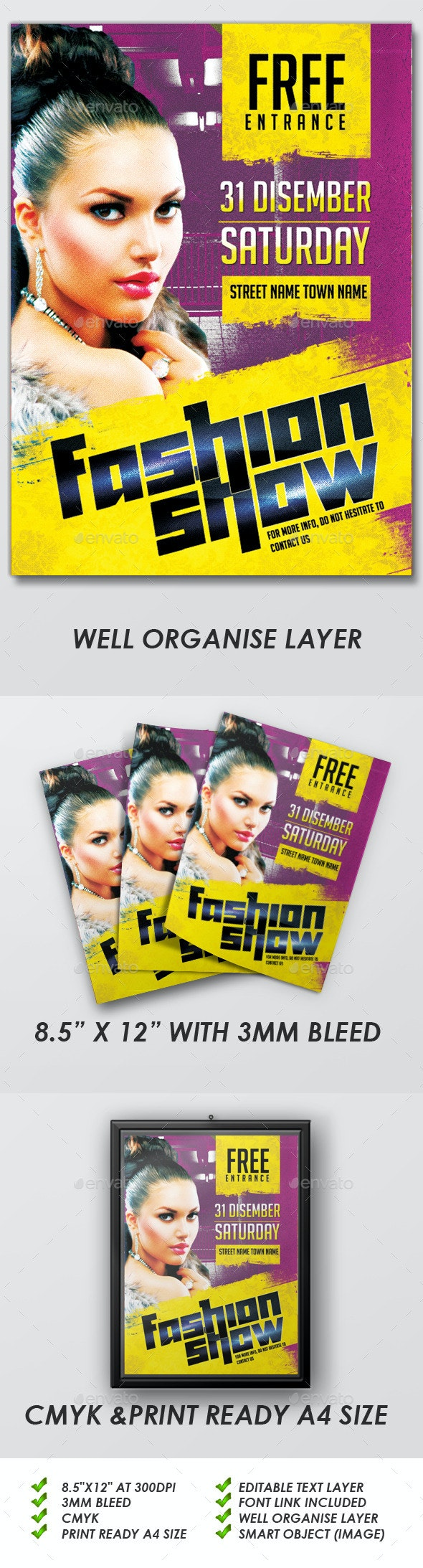 Fashion Show Flyers - Events Flyers