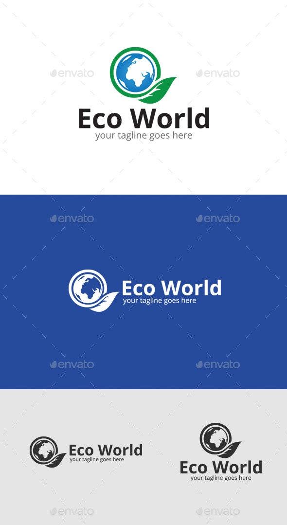 Eco World Logo Template - Nature Logo Templates