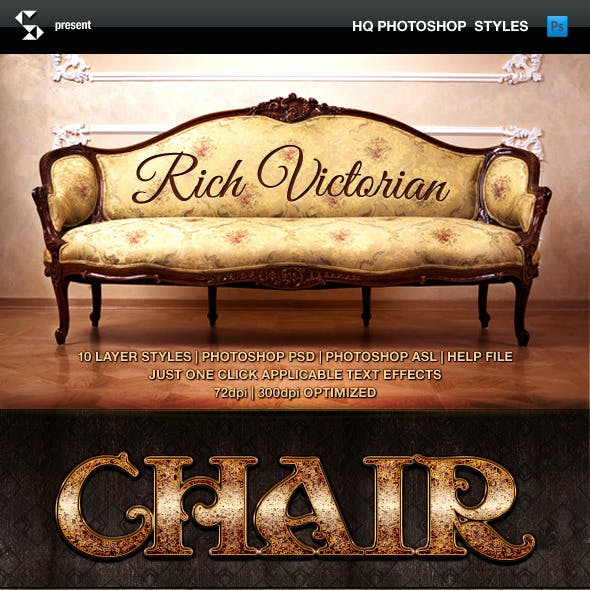 Rich Victorian and Rustic Text Effects