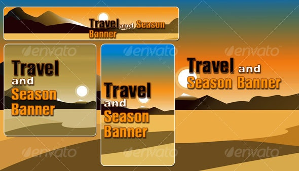 Travel and season banner - Seasons/Holidays Conceptual