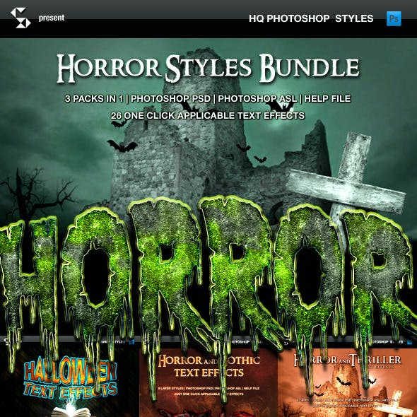 Horror and Halloween Styles Bundle