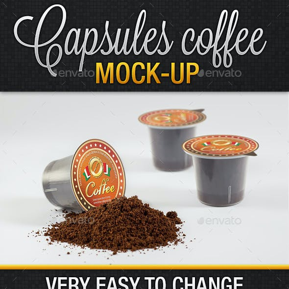 Coffee Compatible Capsules Mockup