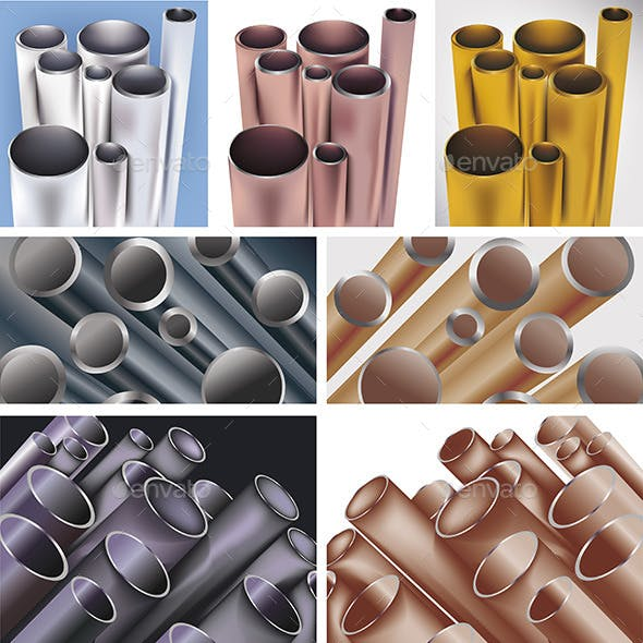 Set of Color Pipes