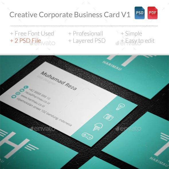 Creative Corporate Business Card V1