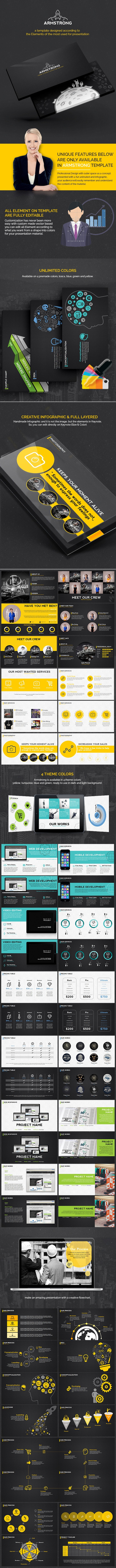 Armstrong - Outer Space Keynote Template - Business Keynote Templates