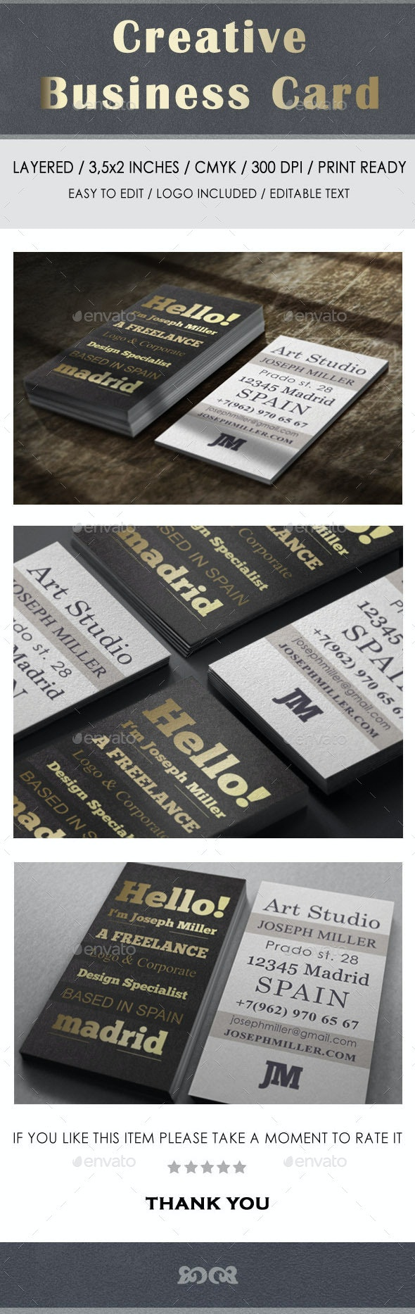 Gold Corporate Business Card - Corporate Business Cards