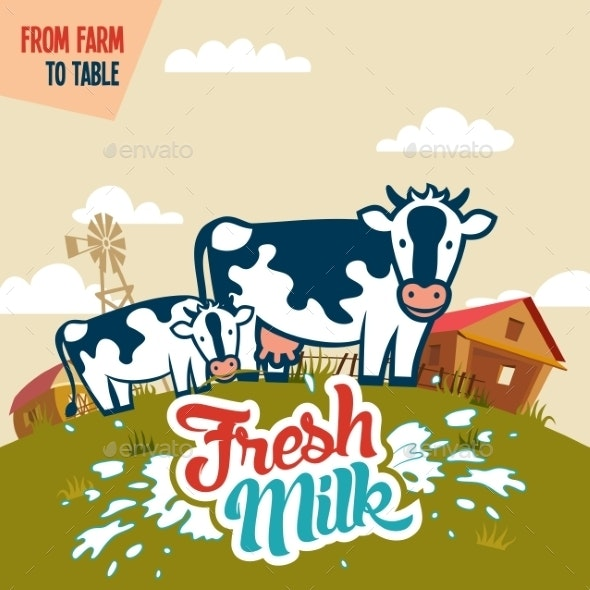 Fresh Milk from Farm to Table - Food Objects