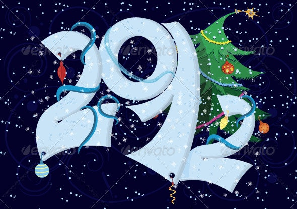 New Year numbers  - Characters Vectors