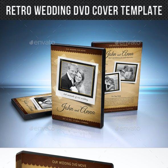 Retro Wedding DVD Cover Template 03