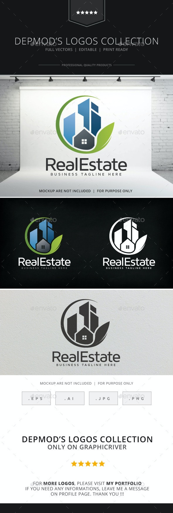 Real Estate V.02 Logo - Buildings Logo Templates