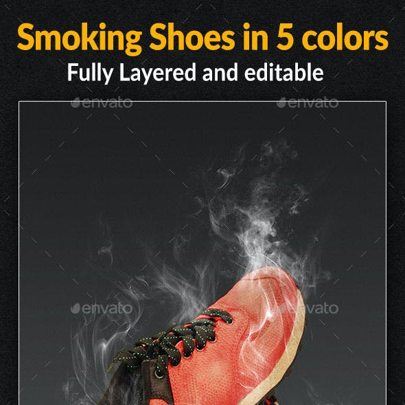 Smoking Shoes in Pink, Grey, Red, Blue & Green