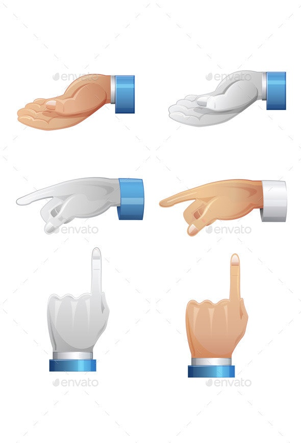 Hand Position - Illustration - People Characters