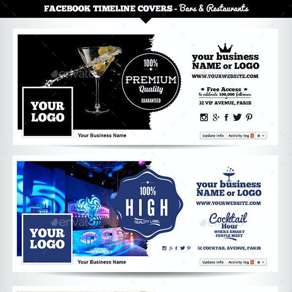 Facebook Timeline Covers - Bars & Restaurants