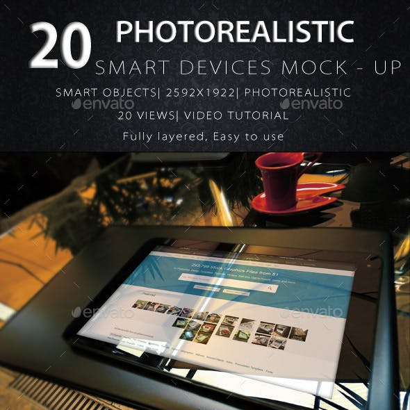 20 PhotoRealistic Devices Mock Ups With 20 Views