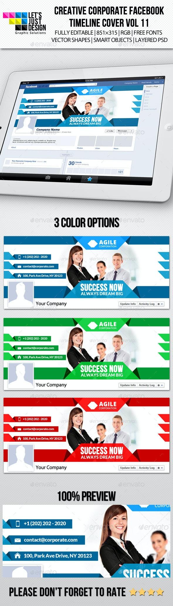 Creative Corporate Facebook Timeline Cover Vol 11 - Facebook Timeline Covers Social Media