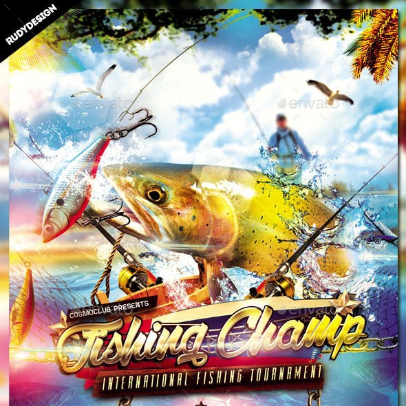 Fishing Tournament Flyer Design