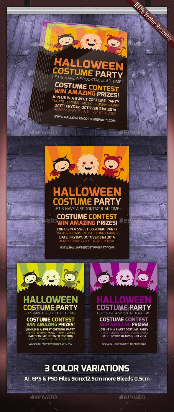 Halloween Party Invitation - Cards & Invites Print Templates