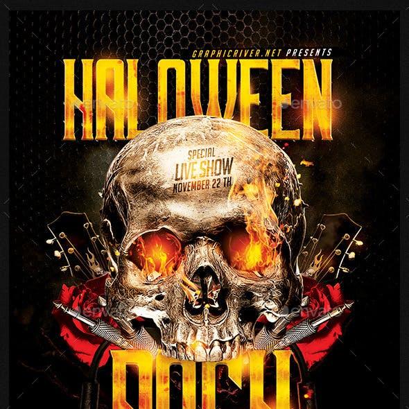 Halloween Rock Festival   Flyer Template PSD