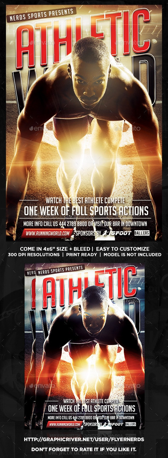 Athletic Competition Sports Flyer - Sports Events