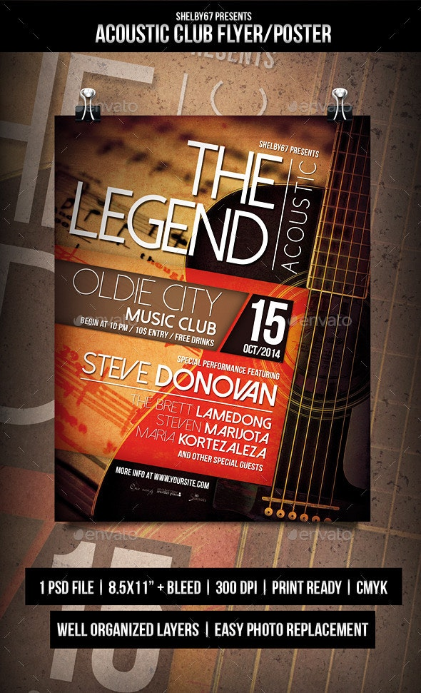Acoustic Club Flyer / Poster - Events Flyers