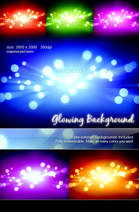 Glowing Backgrounds - Backgrounds Graphics