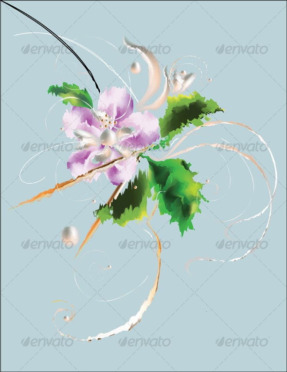 Abstract flowers - Abstract Conceptual