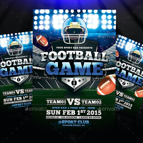 Football Game Flyer + Instagram Promo