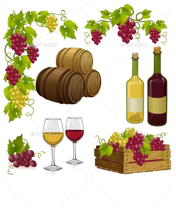 Set for Winemaking - Food Objects
