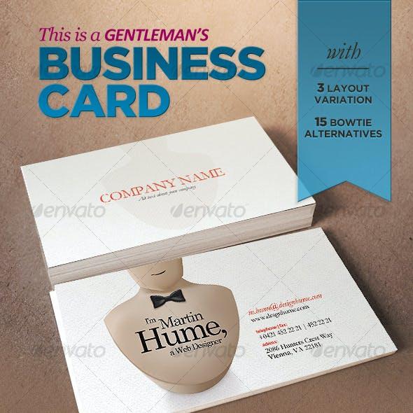 Gentleman's Business Card
